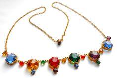 Czechoslovakian glass necklace circa 1930