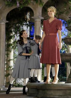 """Carrie Underwood Takes On 'Sound of Music'This image released by NBC shows Carrie Underwood as Maria, and fellow cast members during preparations for """"The Sound of Music Live!, in Bethpage, N.Y. The live production airs on Dec. 5 at 8 p.m. EST."""