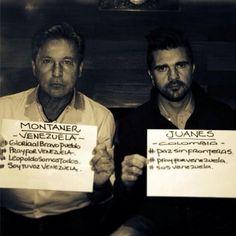Juanes y Ricardo Montaner se unen para expresar su apoyo al pueblo venezolano. pic.twitter.com/i0Z2Z2tpMo