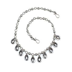 """-LADY LIBERTY- """" Delicate silver teardrops with rhinestone accents dangle freely from a beaded silver chain. It's worn beautifully as a necklace or nearly any other way you can create."""" http://LMAWBY.mialisia.com"""
