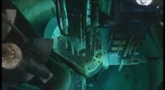 Nuclear Reactor started up. The blue glow is Cherenkov radiation.