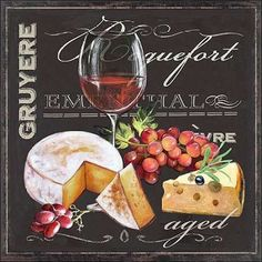 Art Atelier Alliance: Fromagerie 2 Keilrahmen-Bild Leinwand Küche Käse Wein
