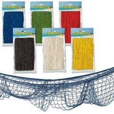 12ft x 4ft Tropical Hawaiian Summer Party Decorative Fish Fishing Net Netting