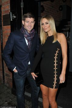 Date night! Steven and Alex Gerrard visited their friend's bar Prussia together in Liverpool on Saturday night Liverpool Legends, Liverpool Fans, Liverpool Football Club, Steven Gerrard Liverpool, Alex Gerrard, Stevie G, France Football, This Is Anfield, Captain Fantastic