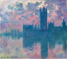 Claude Monet (1840-1926, France)   London, Houses of Parliament, 1900-05