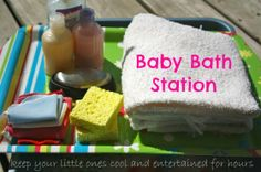 baby doll bath station - water play activity (happy hooligans)