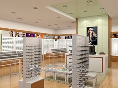+ some tips for choosing the right concept of modern shop design Optical Shop, Shop Fittings, Retail Store Design, Shop Front Design, Modern Shop, Plan Design, Design Ideas, Shop Interior Design, Stores
