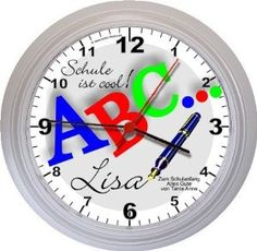 Personalized clock Personalized Clocks, Going Back To School, How To Get, Cool Stuff, First Names, Wall Clocks, Back To School, Entering School, School