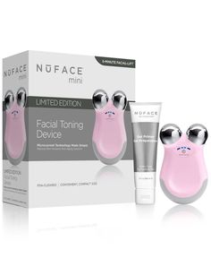 NuFACE Mini Facial Toning Device in Petal Pink