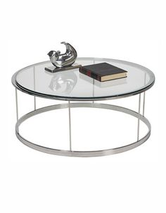 Coffee Side Tables Orion Round Cocktail Table Select Colour Chrome