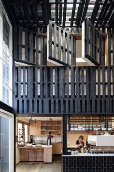 Australia's Hat-Trick at Restaurant and Bar Design Awards – Architecture . Bar Design Awards, Interior Design Awards, Modern Interior Design, Interior Architecture, Design Café, Cafe Design, House Design, Graphic Design, Cool Cafe