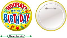Brainwaves offer a range of birthday badges. These are ideal to have close to hand ready for your pupils next special day, making them feel truly appreciated Personalised Badges, Birthday Badge, Special Day, Kids, Custom Badges, Young Children, Boys, Children, Boy Babies