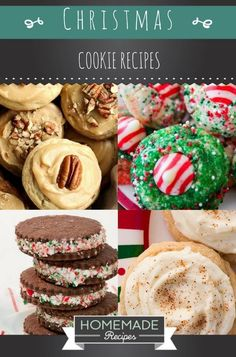 15 Christmas Cookie Recipes For A Sweeter Holiday | http://homemaderecipes.com/15-christmas-cookie-recipes/
