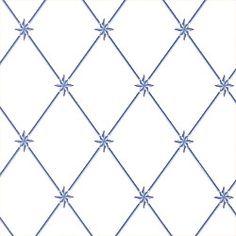 ARIES TRELLIS Wallpaper Collection Tidewater Colorway Blue Bigger trellis