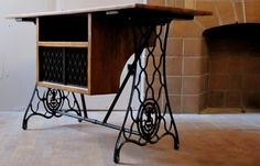 repurposed sewing machine table | singer sewing machine table repurposed cast iron sewing machine sides ...