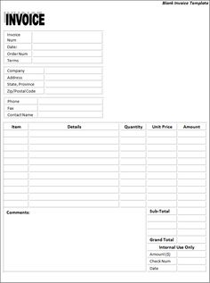 invoice templates printable free | Invoice Templates | Free Word Templates number one