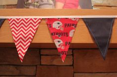 Fabric Banner - Fabric Bunting - NFL New England Patriots – Version 2 by monkeyandlamb on Etsy