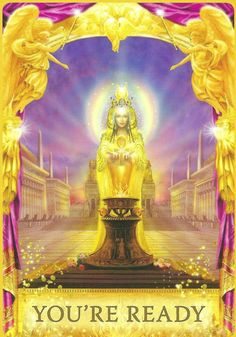 """The """"you're ready"""" card from Doreen Virtue and Radleigh Valentine's Angel Answers Oracle deck was drawn to answer a reader's question about their fear of flying in their dreams by looking at the deeper message."""