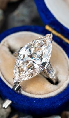Marquise Diamond, Vintage Engagement Rings, Timeless Fashion, Vintage Promise Rings