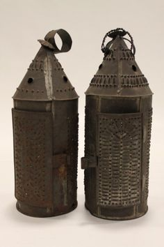 Punched Tin Candle Lanterns : Lot 272
