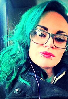 Emerald hair Green hair Manic panic enchanted forest & voodoo blue