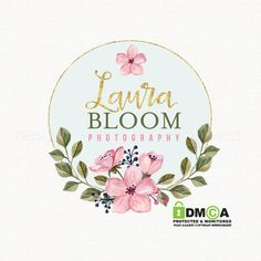 watercolor flower logo florist logo floral by stylemesweetdesign