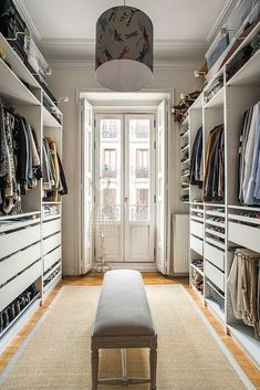 53 Elegant Closet Design Ideas For Your Home. Unique closet design ideas will definitely help you utilize your closet space appropriately. An ideal closet design is probably the only avenue . Best Wardrobe Designs, Closet Designs, Walking Closet, Master Bedroom Closet, Woman Bedroom, Master Suite, Extra Bedroom, Master Bedrooms, Walk In Closet Design