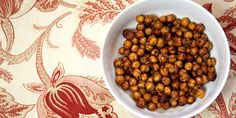 Sweet Snack: Honey Roasted Cinnamon Chickpeas #chickpeas #snackideas #snack