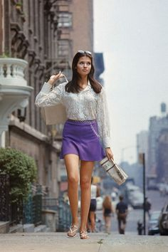 Work a pop of color into your look in the form of a miniskirt that still packs as much punch as it did in the '60s.