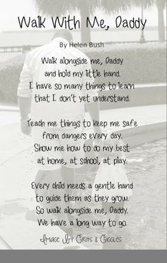 Tutorial: Walk With Me, Daddy Poem you personalize with your own picture.