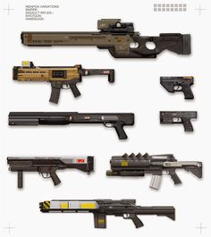 Sci-fi Weapon Concepts!