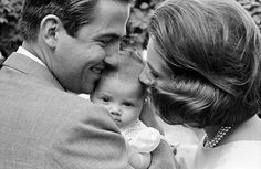 classicroyalrarepics: King Constantine and Queen Anne-Marie with Princess Alexia, 1965