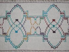 White Swedish Weave Table Runner by NeenersWeaving on Etsy, 25.00
