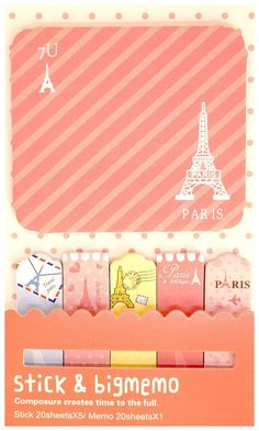 Items similar to Kawaii PARIS pink travel cute bookmark STICKY notes memo pad Japan cartoon stationery planner DIY on Etsy Cute Bookmarks, Note Memo, Stationery Items, Smash Book, Paris Travel, Sticky Notes, Planner Diy, Childhood, Kawaii