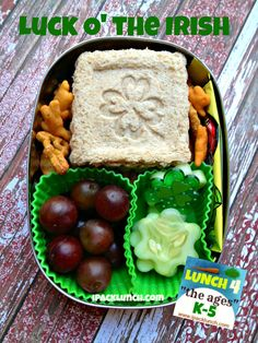 St. Patrick's Day Lunch and tips for packing for grades K-5