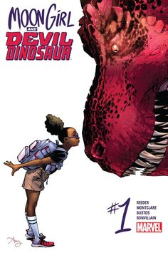 Moon Girl and Devil Dinosaur (2015-) #1 Lunella Lafayette is a preteen super genius who wants to change the world- but learned the hard way that it takes more than just big brains. Fearful of the monstrous Inhuman genes inside her, life is turned upside down when a savage, red-scaled tyrant is teleported from prehistoric past to a far-flung future we call today.