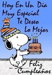 Comentarios de Musicalegria - Singles en Barcelona Spanish Birthday Wishes, Happy Birthday Celebration, Happy Birthday Flower, Happy Birthday Mom, Happy Birthday Greetings, Happy Birthday Snoopy Images, Snoopy Birthday, Birthday Images, Happy Marriage Anniversary