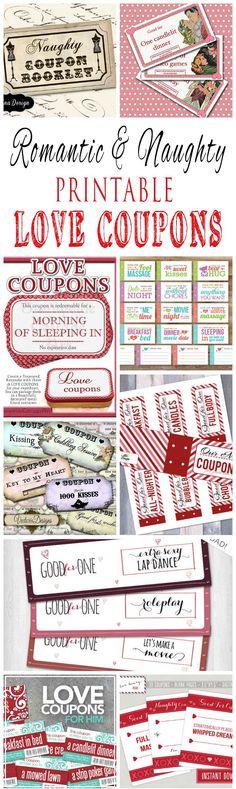Naughty coupons printable + free