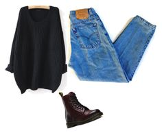 """""""School outfit"""" by thealexjoyo on Polyvore featuring WithChic, Levi's and Dr. Martens"""