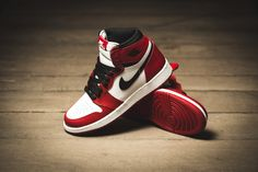 """***RELEASE REMINDER*** The Nike Air Jordan 1 Retro High OG BG """"Chicago"""" is dropping at our shop tomorrow! 6.3.2015 