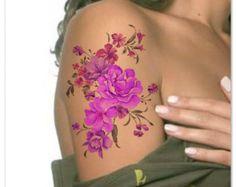 Temporary Tattoo Flower Roses Waterproof Ultra by UnrealInkShop