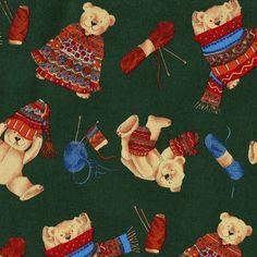 Fair Isle Bear Knitting Sweater Yarn by heirloomsewingshop on Etsy
