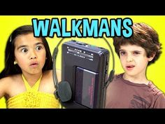 KIDS REACT TO WALKMANS (Portable Cassette Players) - YouTube