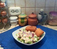 Fresh Rolls, Meat, Chicken, Ethnic Recipes, Food, Meal, Eten, Meals, Buffalo Chicken