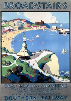 Broadstairs, Kent. Vintage SR Travel poster by John Mace. 1929