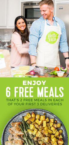 Enjoy 6 free meals in each of your first 3 deliveries)! Fast Healthy Meals, Healthy Dinner Recipes, Healthy Snacks, Healthy Eating, Healthy Hair, Keto Recipes, Grilled Veggies, Food Design, Design Ideas