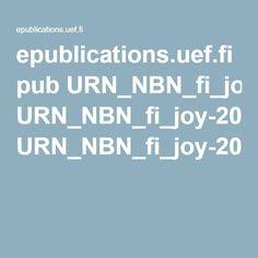 epublications.uef.fi pub URN_NBN_fi_joy-20080030 URN_NBN_fi_joy-20080030.pdf