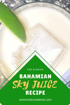 The Elusive Bahamian Sky Juice Cocktail Recipe Conch Recipes, Bahamian Food, Cocktail Recipes, Cocktails, Yummy Drinks, Yummy Food, Anniversary Plans, New Recipes, Favorite Recipes