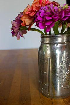 DIY mercury glass jars