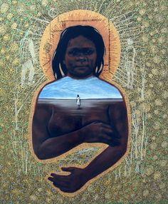 Julie dowling Aboriginal People, Aboriginal Art, Nalini Malani, Kunst Der Aborigines, Australian Aboriginals, Indigenous Australian Art, Football Pictures, African Art, Female Art
